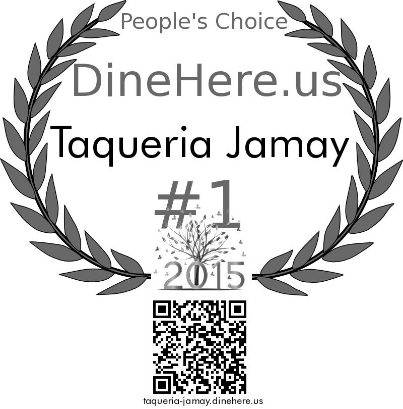 Taqueria Jamay DineHere.us 2015 Award Winner